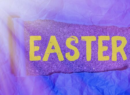 Handwriting text writing Easter. Conceptual photo the most important and oldest festival of the Christian Church