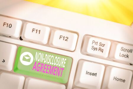 Handwriting text Non Disclosure Agreement. Conceptual photo Legal Contract Confidential Material or Information