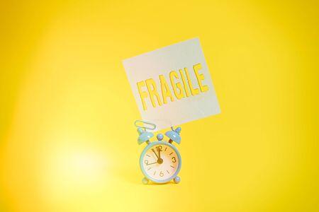 Word writing text Fragile. Stock Photo