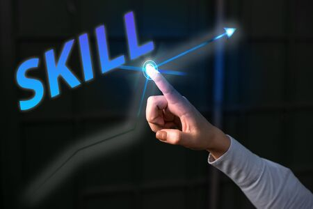 Word writing text Skill. Business photo showcasing ability to use one s is knowledge effectively and readily in execution 版權商用圖片