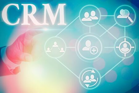 Conceptual hand writing showing Crm. Concept meaning Strategy for managing the Affiliation Interactions of an organization