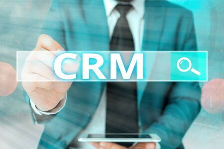 Word writing text Crm. Business photo showcasing Strategy for managing the Affiliation Interactions of an organization