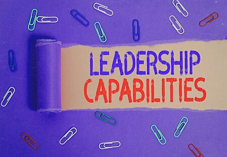 Handwriting text writing Leadership Capabilities. Conceptual photo Set of Performance Expectations a Leader Competency