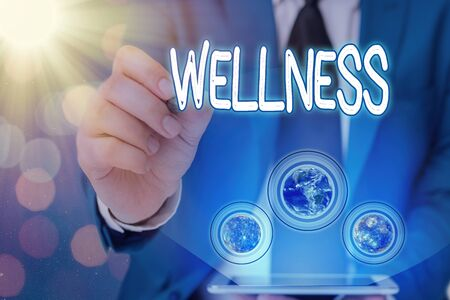 Word writing text Wellness. Business photo showcasing state of being in good health especially as actively pursued goal