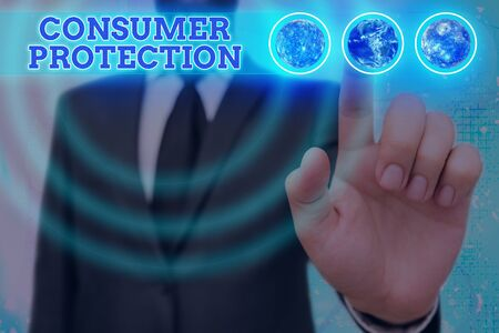 Word writing text Consumer Protection. Business photo showcasing Fair Trade Laws to ensure Consumers Rights Protection