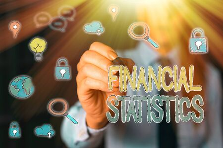 Handwriting text Financial Statistics. Conceptual photo Comprehensive Set of Stock and Flow Data of a company