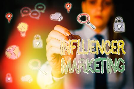 Handwriting text Influencer Marketing. Conceptual photo Endorser who Influence Potential Target Customers