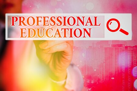 Word writing text Professional Education. Business photo showcasing Continuing Education Units Specialized Training 写真素材