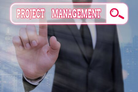 Writing note showing Project Management. Business concept for Application Process Skills to Achieve Objectives and Goal