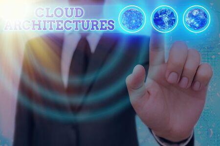 Word writing text Cloud Architectures. Business photo showcasing Various Engineered Databases Software Applications 版權商用圖片