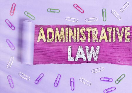 Text sign showing Administrative Law. Business photo showcasing Body of Rules regulations Orders created by a government