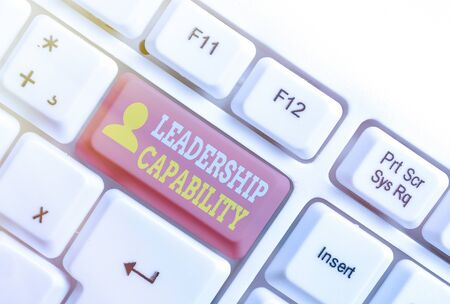 Text sign showing Leadership Capability. Business photo showcasing what a Leader can build Capacity to Lead Effectively Stock fotó