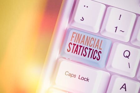 Handwriting text writing Financial Statistics. Conceptual photo Comprehensive Set of Stock and Flow Data of a company
