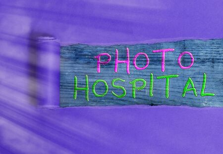 Conceptual hand writing showing photo Hospital. Concept meaning unique Applied Art of Medical Institution and Practice