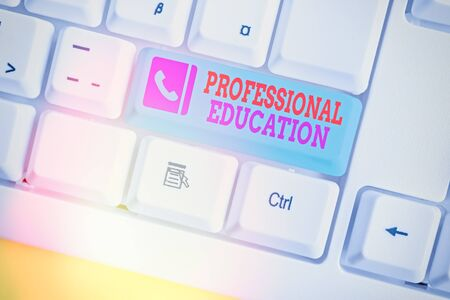 Writing note showing Professional Education. Business concept for Continuing Education Units Specialized Training 写真素材