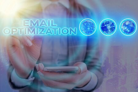 Word writing text Email Optimization. Business photo showcasing Maximize the effectiveness of the marketing campaign