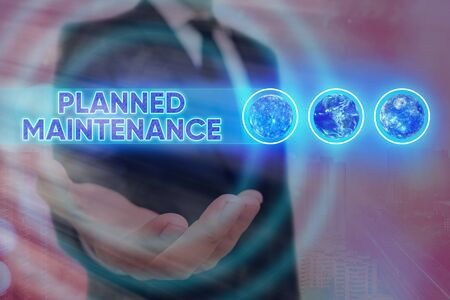 Word writing text Planned Maintenance. Business photo showcasing Check ups to be done Scheduled on a Regular Basis