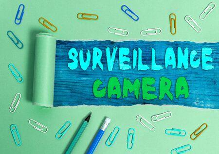 Handwriting text writing Surveillance Camera. Conceptual photo Closed Circuit Television transmit signal on monitors