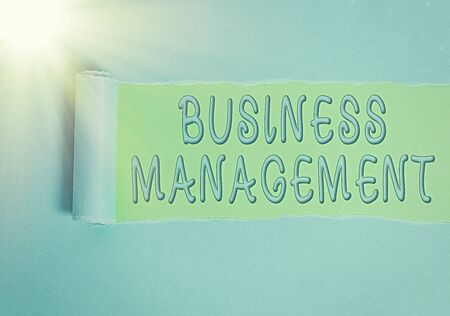 Conceptual hand writing showing Business Management. Concept meaning Overseeing Supervising Coordinating Business Operations