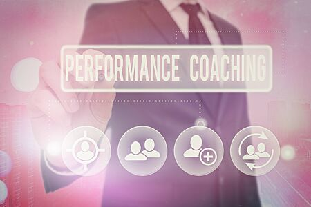 Handwriting text Performance Coaching. Conceptual photo Facilitate the Development Point out the Good and Bad Stok Fotoğraf