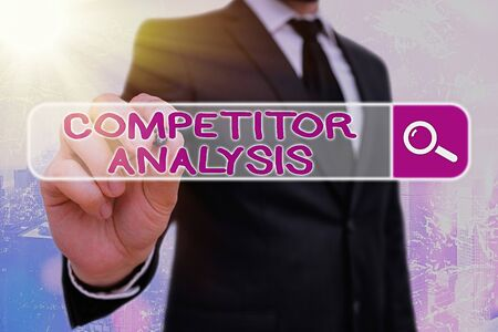 Word writing text Competitor Analysis. Business photo showcasing Determine the Strength Weakness of Competitive Market