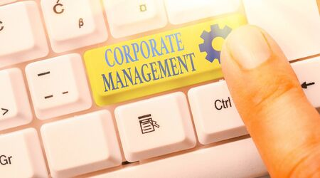 Text sign showing Corporate Management. Business photo text all Levels of Managerial Personnel and Excutives