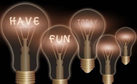 Text sign showing Have Fun. Business photo text wish somebody good and enjoyable time when they do something