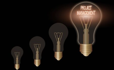 Word writing text Project Management. Business photo showcasing Application Process Skills to Achieve Objectives and Goal