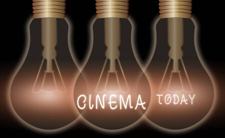 Text sign showing Cinema. Business photo text theater where movies are shown for public entertainment Movie theater