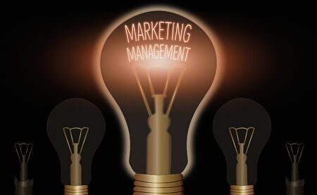 Writing note showing Marketing Management. Business concept for Develop Advertise Promote a new Product or Service