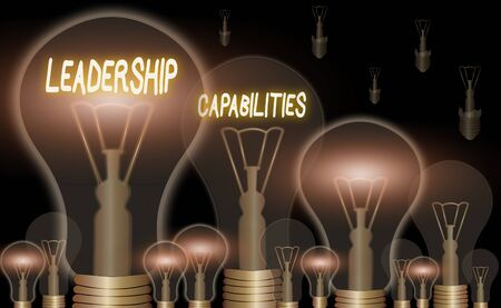 Handwriting text Leadership Capabilities. Conceptual photo Set of Performance Expectations a Leader Competency