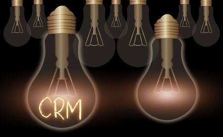 Writing note showing Crm. Business concept for Strategy for managing the Affiliation Interactions of an organization