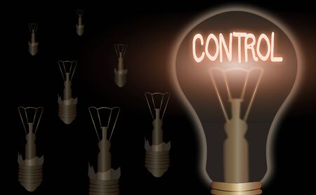 Text sign showing Control. Business photo showcasing Power to influence direct behavior actions course of events