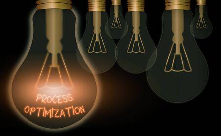 Text sign showing Process Optimization. Business photo text Improve Organizations Efficiency Maximize Throughput Stock Photo