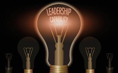 Writing note showing Leadership Capability. Business concept for what a Leader can build Capacity to Lead Effectively 写真素材