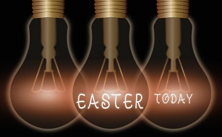 Text sign showing Easter. Business photo text the most important and oldest festival of the Christian Church
