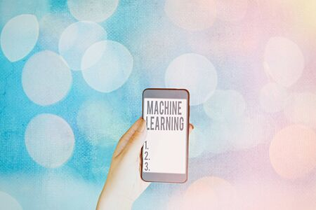 Handwriting text Machine Learning. Conceptual photo give computers the ability to be taught with data