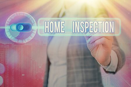 Writing note showing Home Inspection. Business concept for Examination of the condition of a home related property