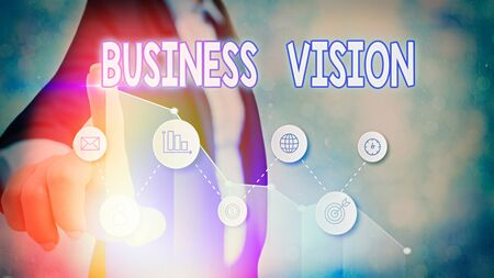 Handwriting text Business Vision. Conceptual photo grow your business in the future based on your goals