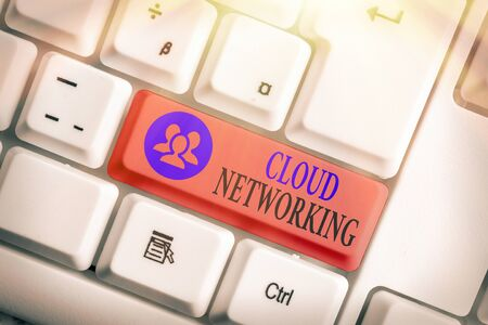 Conceptual hand writing showing Cloud Networking. Concept meaning is term describing access of networking resources Stock Photo