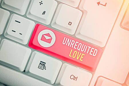Writing note showing Unrequited Love. Business concept for not openly reciprocated or understood as such by beloved Фото со стока - 146021421