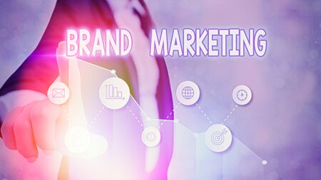 Handwriting text Brand Marketing. Conceptual photo Creating awareness about products around the world