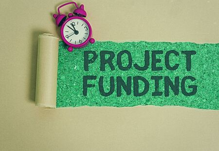Word writing text Project Funding. Business photo showcasing paying for start up in order make it bigger and successful