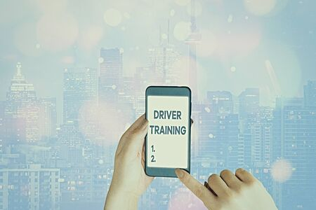 Handwriting text writing Driver Training. Conceptual photo prepares a new driver to obtain a driver s is license