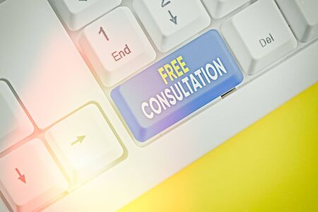 Text sign showing Free Consultation. Business photo text Giving medical and legal discussions without pay