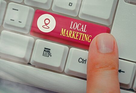 Handwriting text Local Marketing. Conceptual photo A local business where a product buy and sell in area base