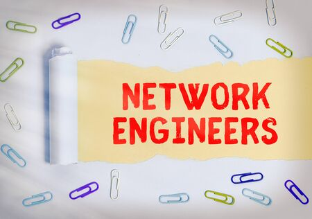 Handwriting text Network Engineers. Conceptual photo Technology professional Skilled in computer system