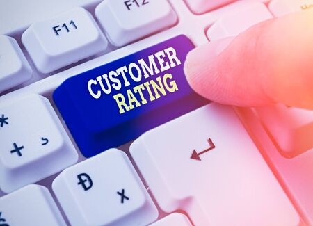 Text sign showing Customer Rating. Business photo showcasing Each point of the customers enhances the experience