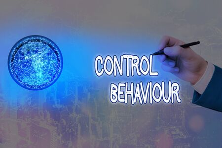 Writing note showing Control Behaviour. Business concept for Exercise of influence and authority over conduct