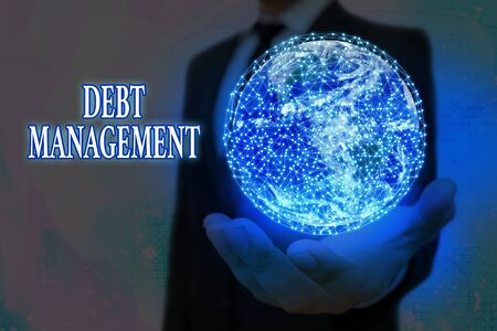 Handwriting text Debt Management. Conceptual photo The formal agreement between a debtor and a creditor